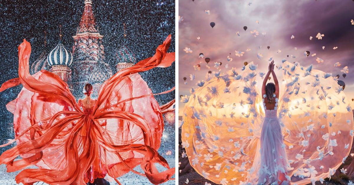 Esta fotógrafa viajó por el mundo para captar la belleza de 20 hermosos vestidos
