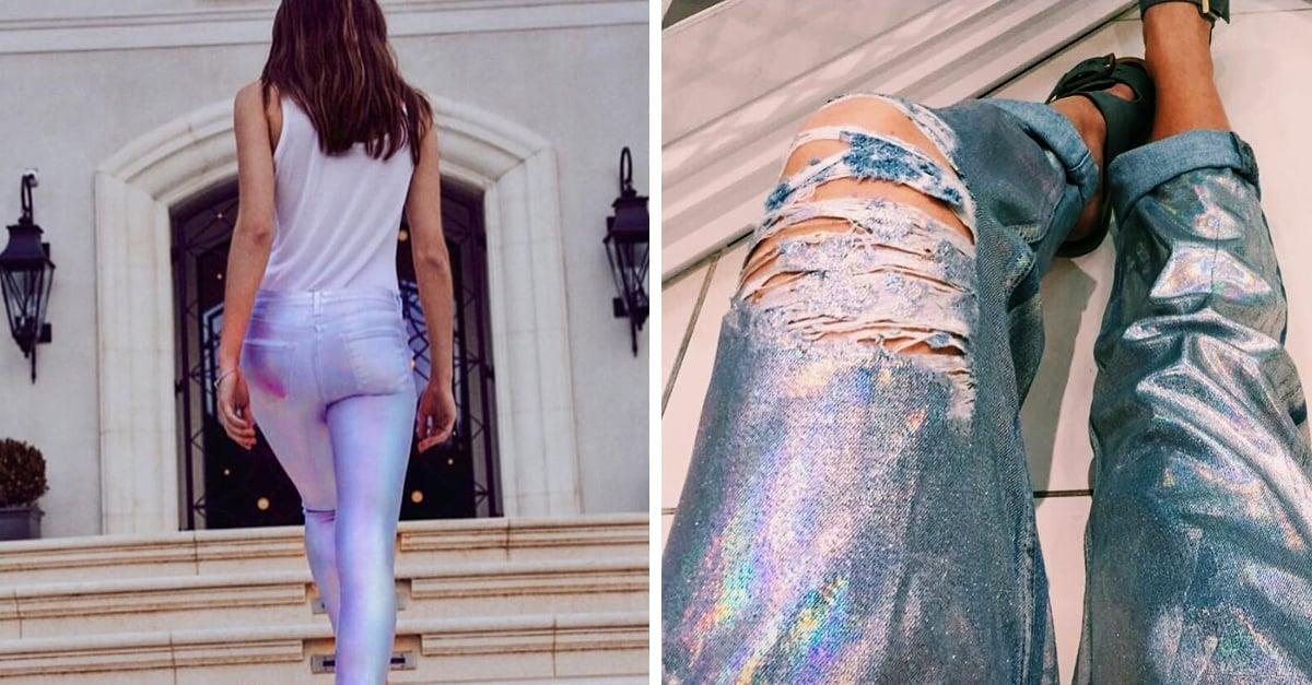 Los jeans de unicornio son tan brillantes que los vas a necesitar