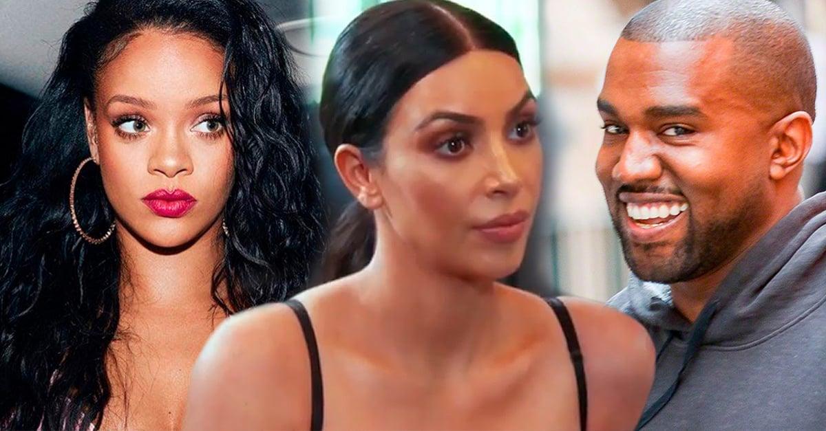 Kanye West no dejó de mirar a Rihanna en un convierto, Kim ardió en celos