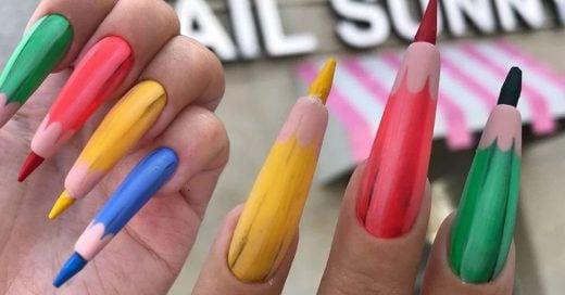 Nail Sunny lo hizo de nuevo, creo las uñas de lápiz