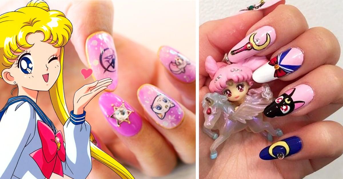 16 Diseños De Uñas Inspirados En La Magia De Sailor Moon