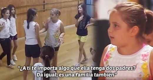 Esta niña defendió a su compañera de ser acosada por tener dos padres
