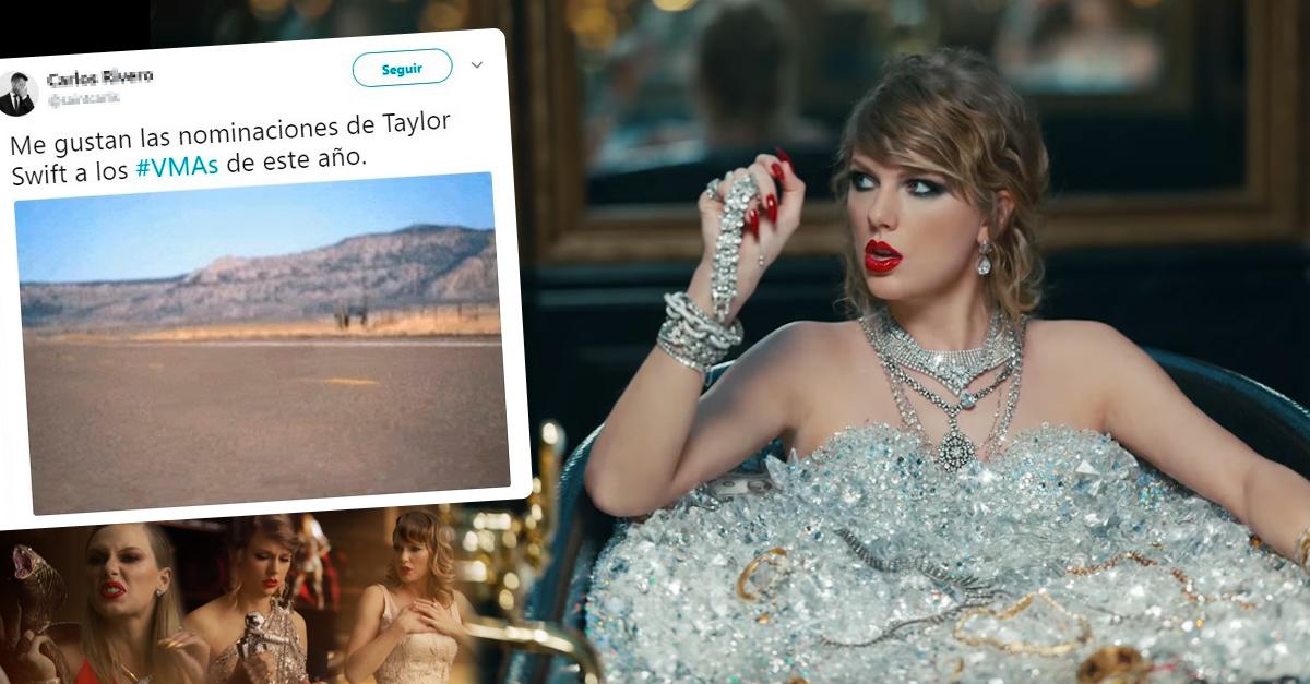 Twitter estalla contra los VMA por dejar de sus nominaciones a Taylor Swift