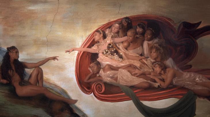 mujer representación de Dios y Adán