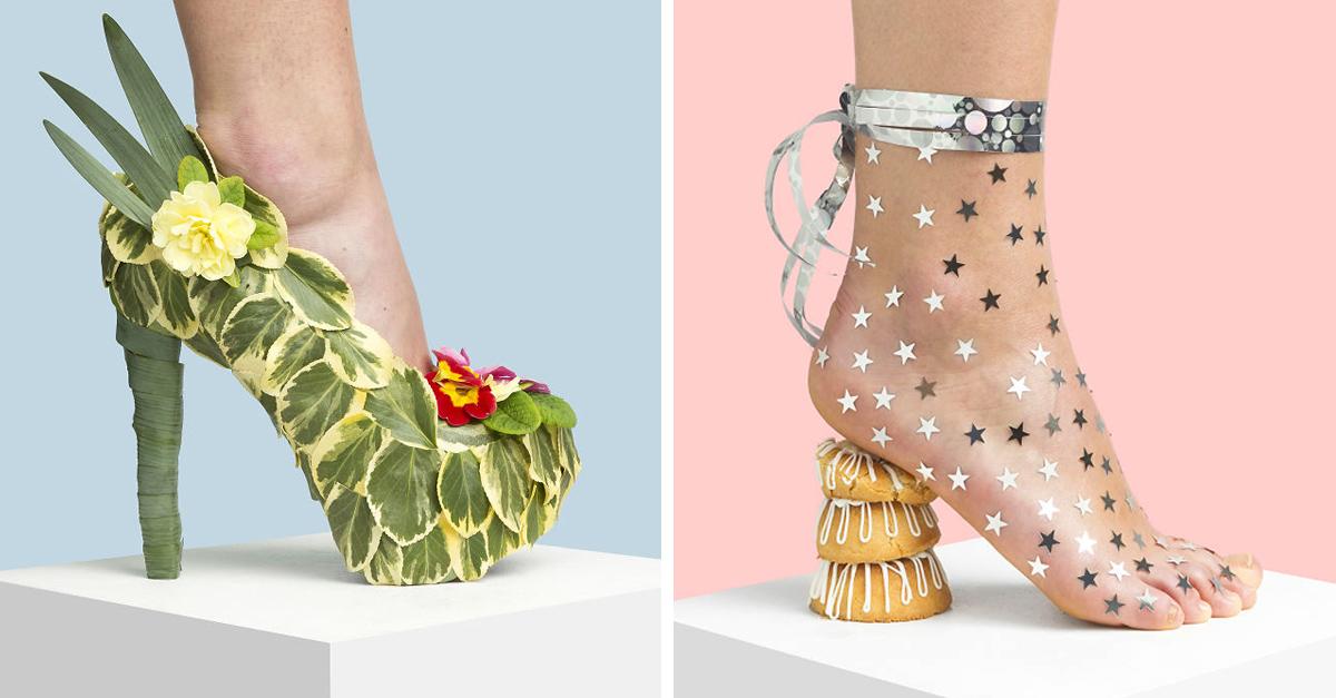 Esta artista usó materiales de uso común para crear una increíble colección de zapatos