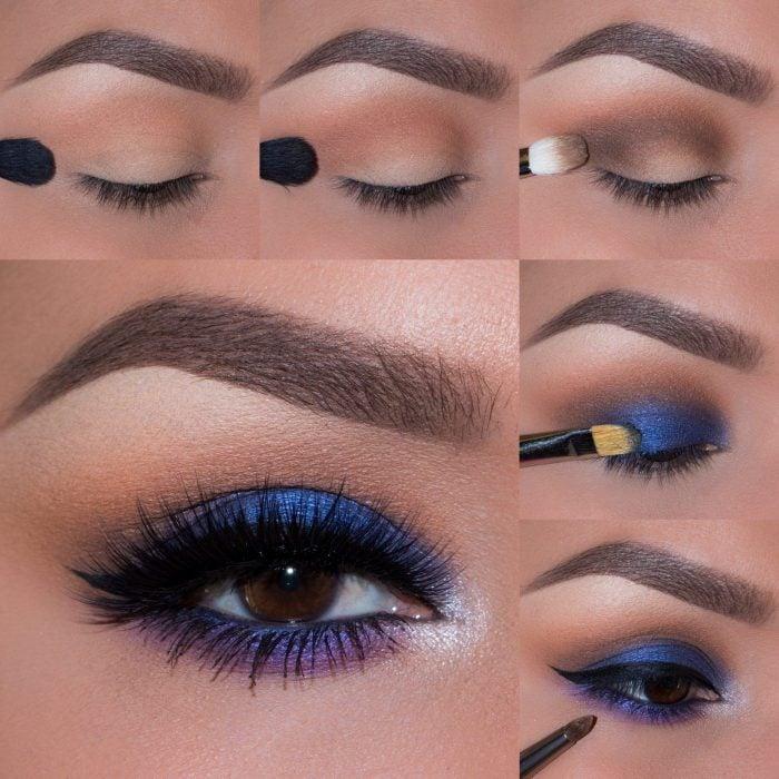 tutorial maquillaje ojos azules