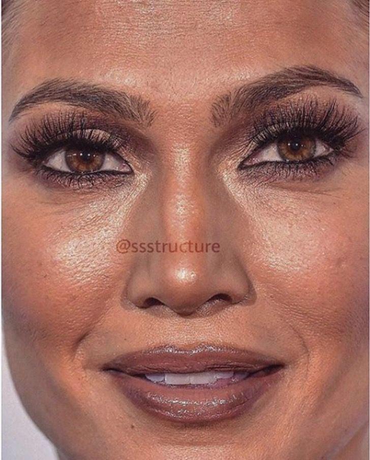 Jennifer Lopez de cerca y sin photoshop