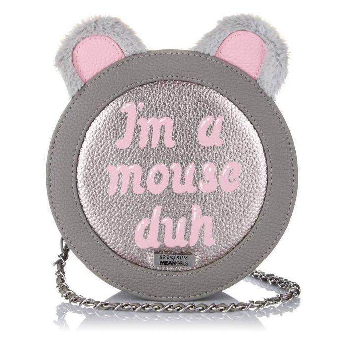 bolso gris de ratón soy un ratón
