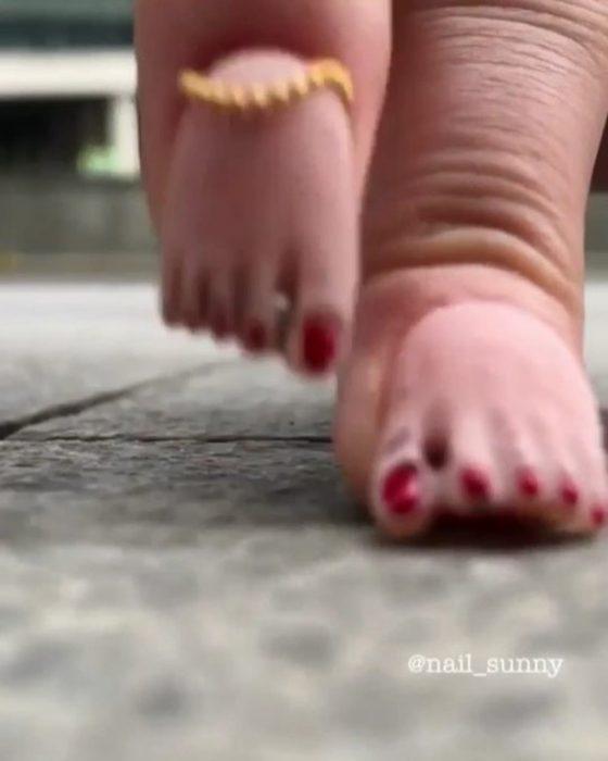 Uñas de pies creadas por nail sunny