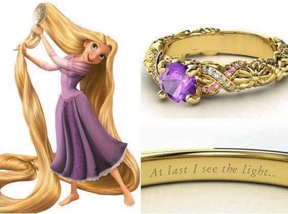 anillo para dama color morado