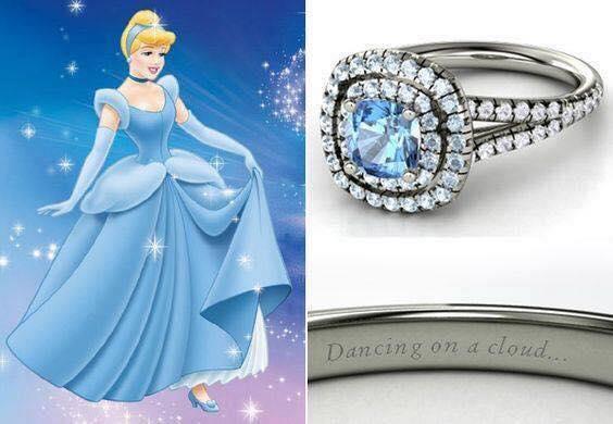 anillo para dama azul cielo