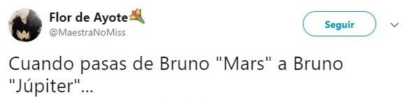 comentario twitter Bruno Mars