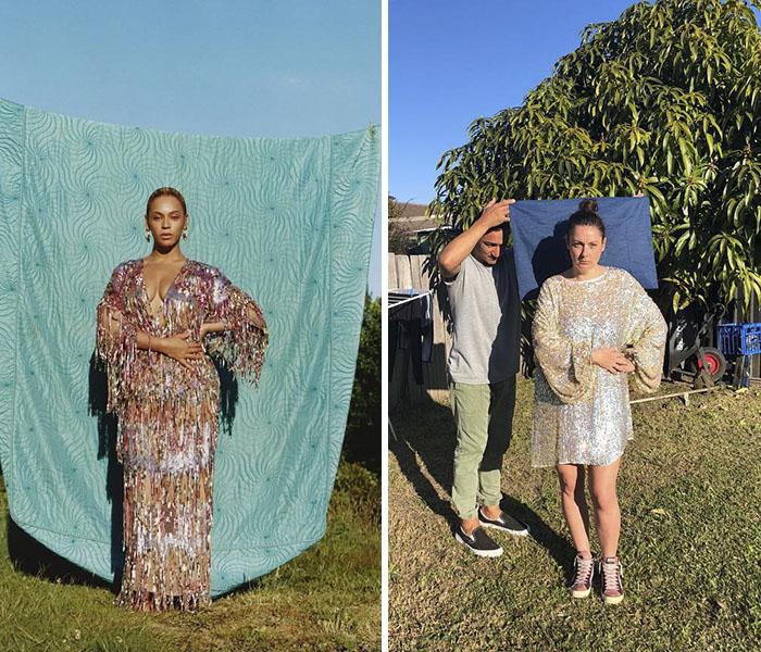Celeste Barber recreando nuevas fotos de celebridades