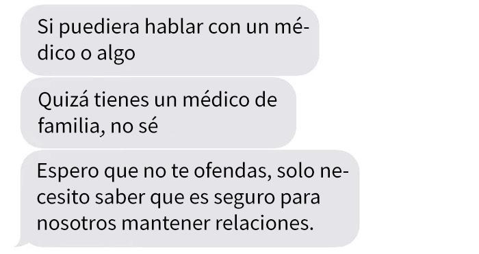 Conversación en whatsapp de un chico y una chica que le revela que tiene cáncer