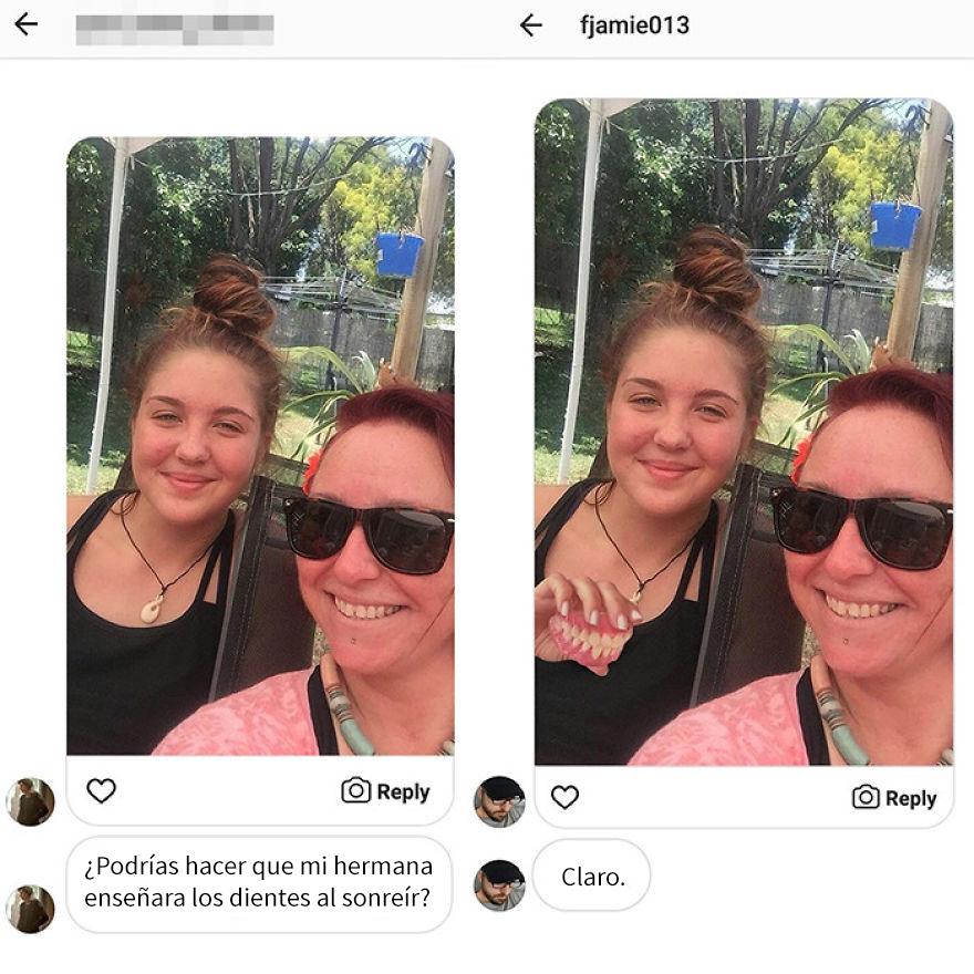 Cuenta de Email de un diseñador que cambia las fotos de personas con photoshop