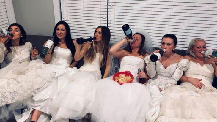chicas con vestido de novias