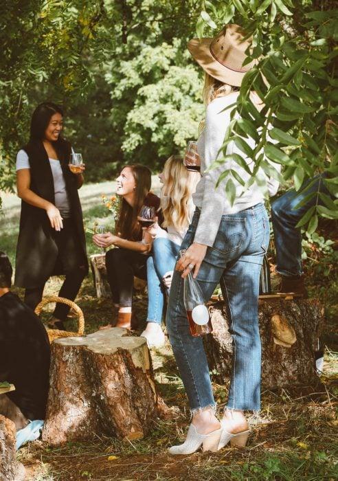 chicas de picnic