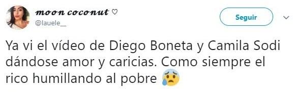 tuit de Camila Sodi y Diego Boneta