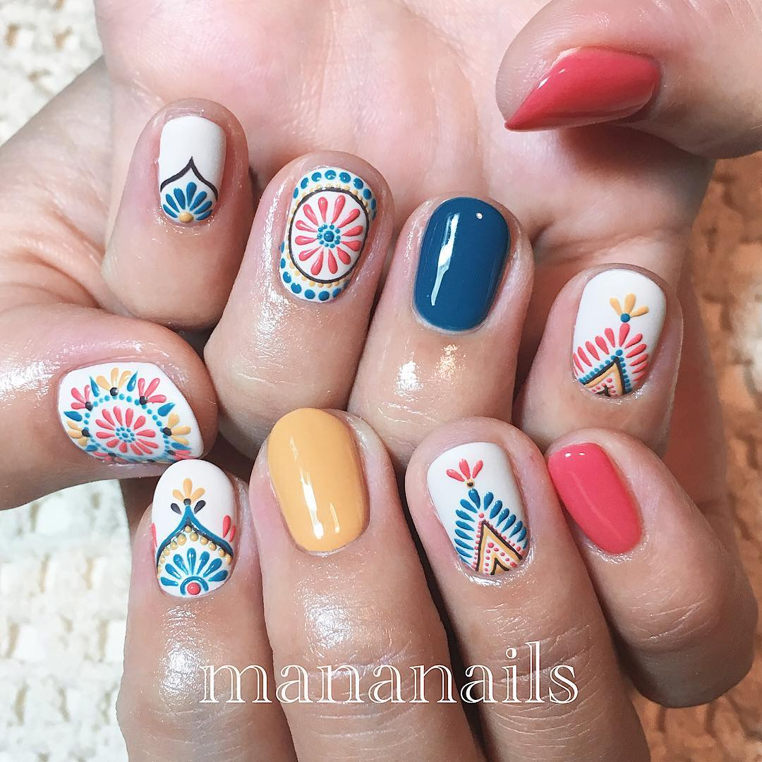 15 Diseños De Nail Art Que Son Perfectos Para Uñas Cortas