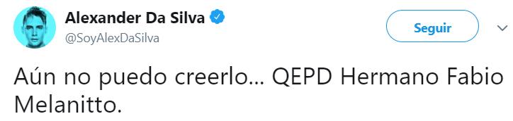 Comentarios en twitter sobre el asesinato de Fabio Melanitto