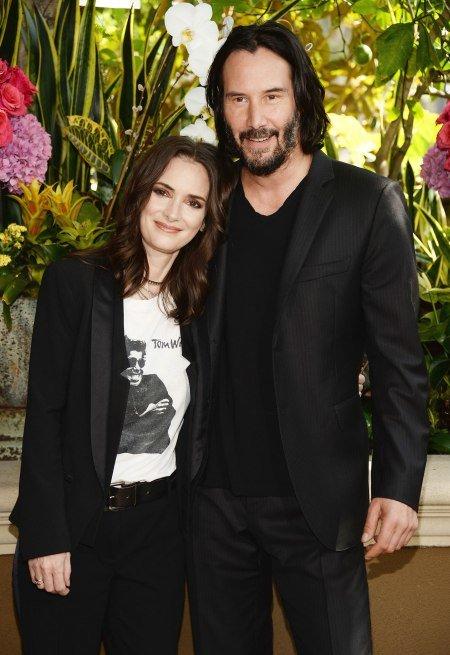 Keanu Reeves y winona ryder promocionando su nueva película
