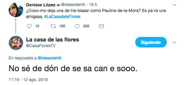 Comentarios en Twiter sobre la serie de la casa de las flores