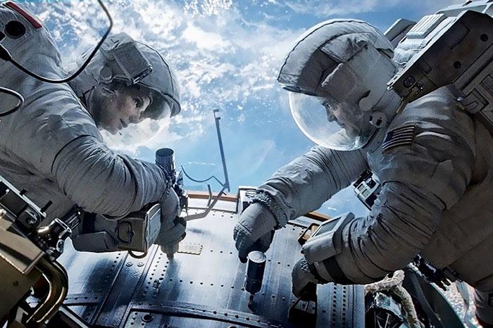 Escena de la película gravedad