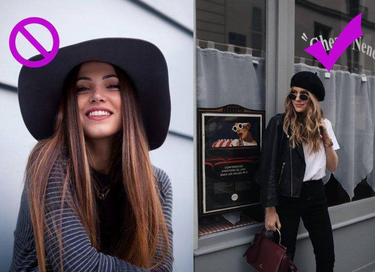 Chicas usando boinas y sombreros