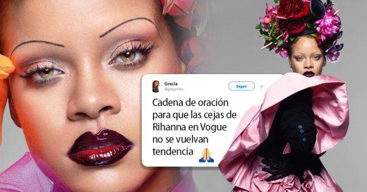 Rihanna apareció con cejas de los 90 y este es el peor comeback de maquillaje del siglo