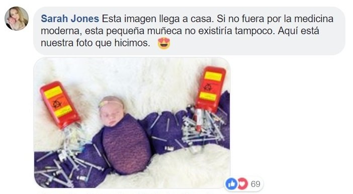 comentario bebé arcoíris