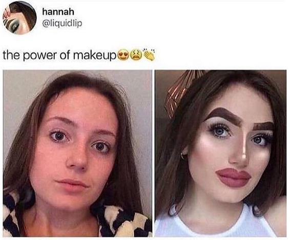 Chica que habla sobre el poder del maquillaje