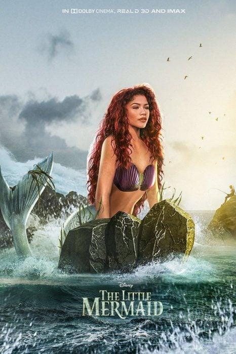 escena de La Sirenita, cosplay