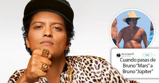 Bruno Mars lo hace de nuevo y sorprende a Internet… ¡Pero con 20 kilos de más!