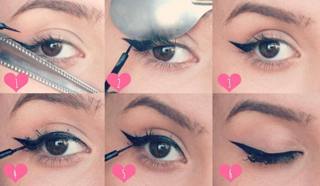 Usa una cuchara para delinearte los ojos