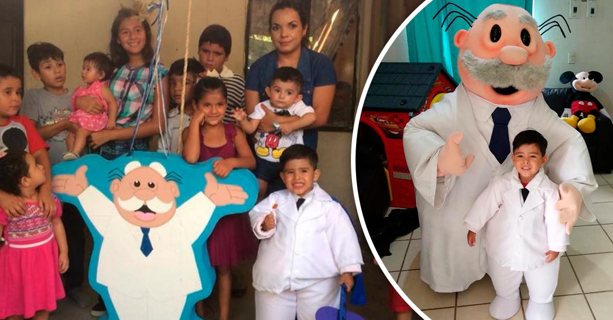 Niño de 3 años tuvo una fiesta inspirada en el Dr. Simi y nos ha robado el corazón