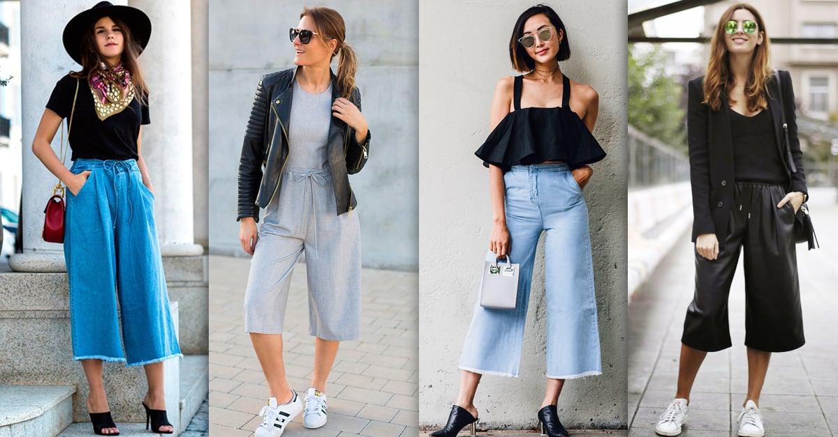 jeans cortos y anchos