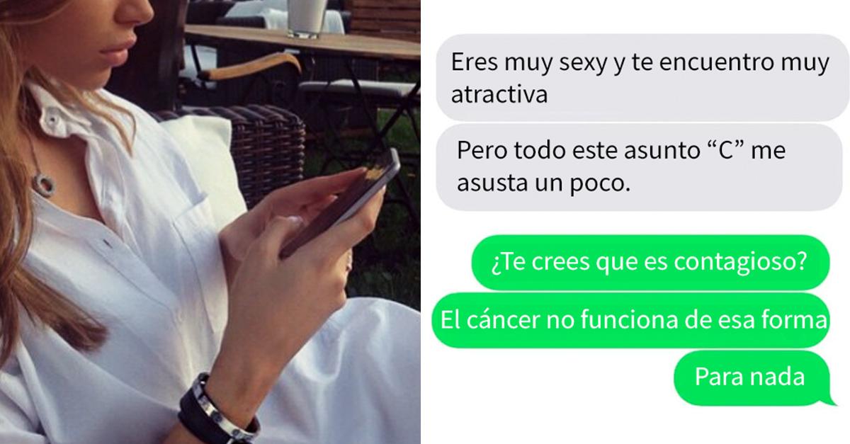 Esta mujer estaba saliendo con un chico, él le exigió una prueba de que no se contagiaría de cáncer
