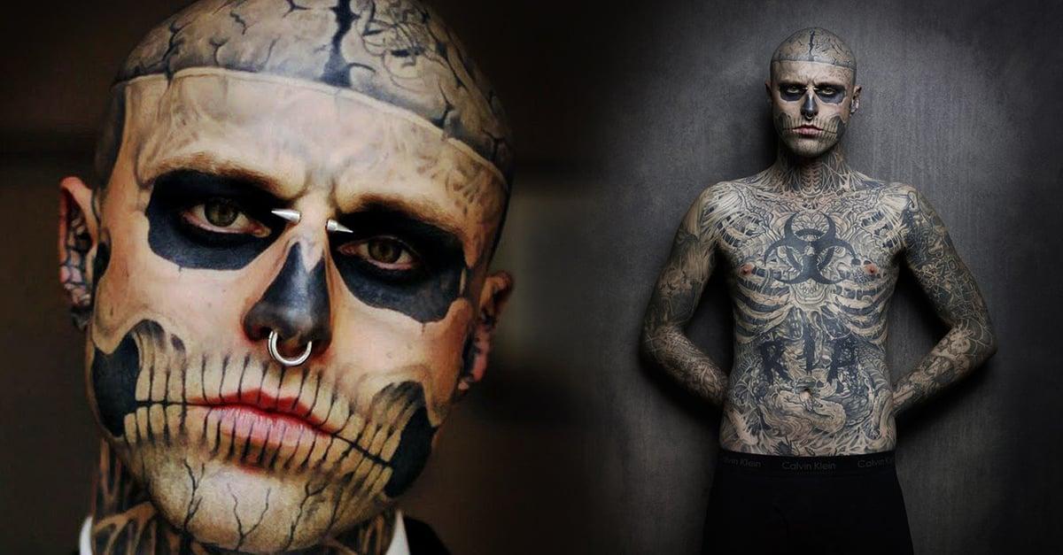 El modelo tatuado 'Zombie Boy' se suicida a los 32 años
