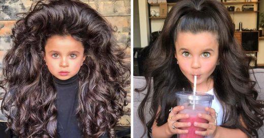 Mia Alflalo, la modelo de 5 años que psorprende Instagram con su bella cabellera