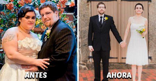 15 Parejas antes y después de bajar de peso juntos que demostraron que el amor lo puede todo