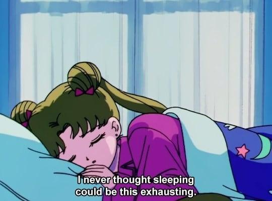 Nunca creí que dormir sería así de cansado