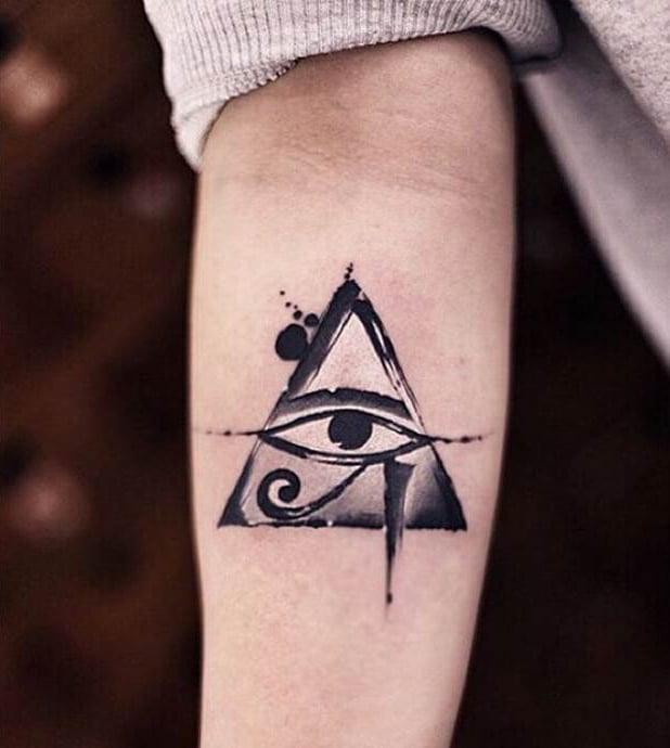 Tatuaje del ojo de Ra