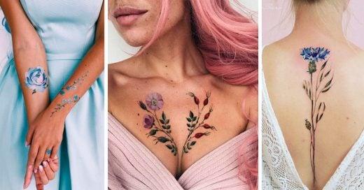 15 Tatuajes de flores para decorar tu piel de una forma muy femenina
