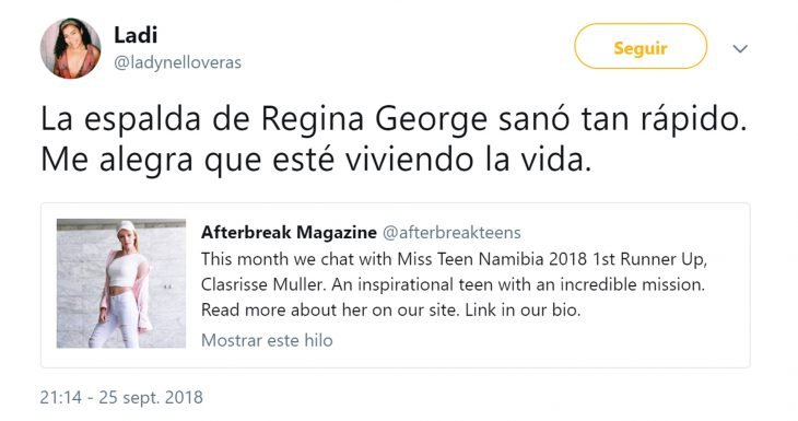 Chica es idéntica a Regina George