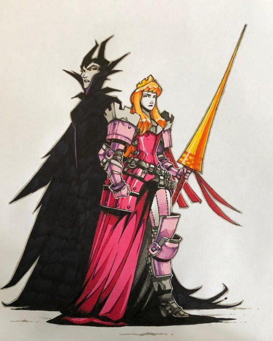 Artista ruso le da un cambio de look a las princesas de Disney y convierte en guerreras