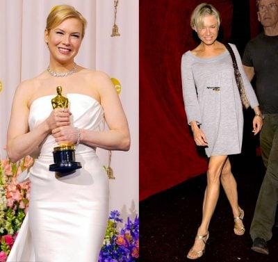Famosas antes y después