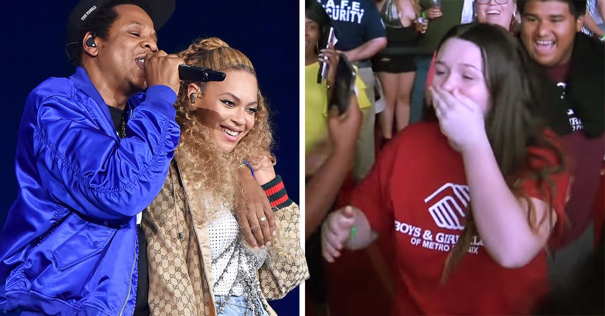 Esta chica se entera que Beyoncé y Jay Z le darán una beca de 100 mil dólares para continuar con sus estudios