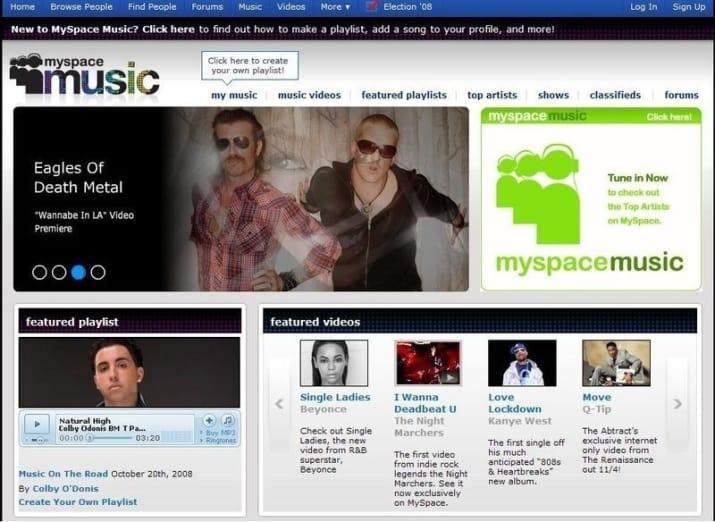 aplicación Myspace