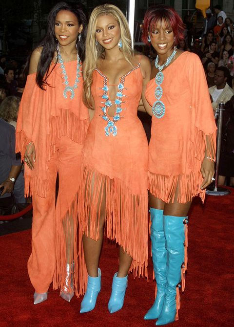 Beyoncé junto a sus compañeras de Destiny Child