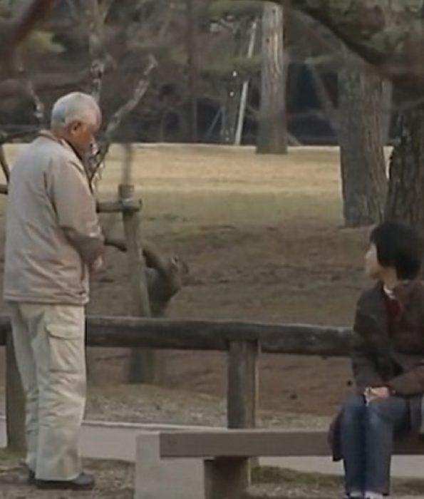 pareja sentada en un parque